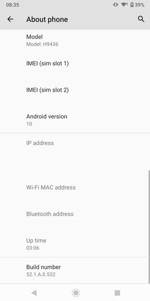 Android 10 Update for Xperia XZ3 & XZ2