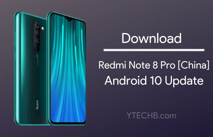 Android 10 Update for redmi note 8 pro china