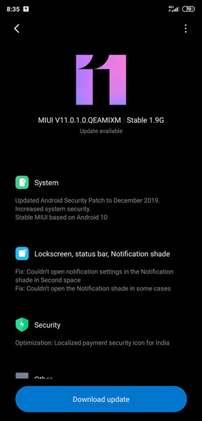Android 10 update for Mi 8
