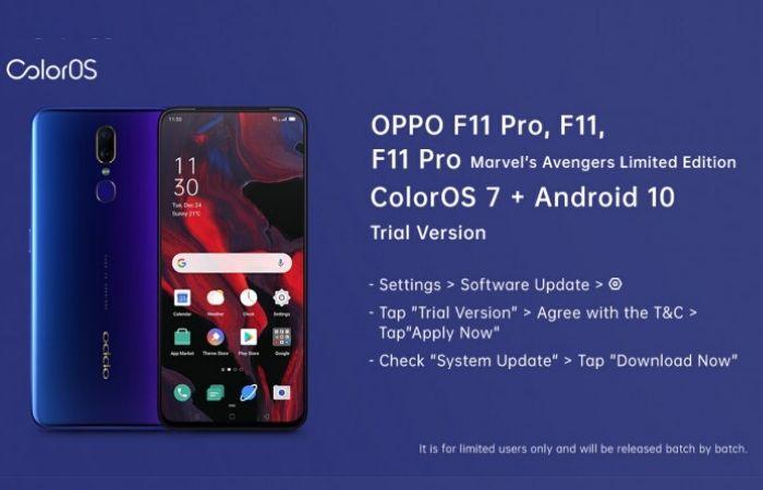 Oppo F11 Pro ColorOS 7 Update