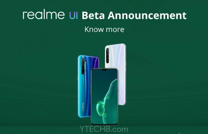 Realme X2 realme UI beta update