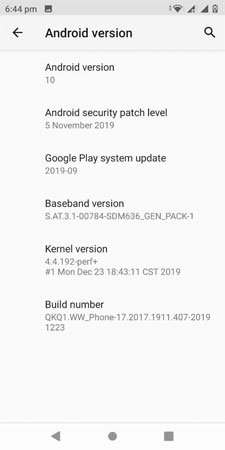 android 10 update for asus zenfone max pro m1