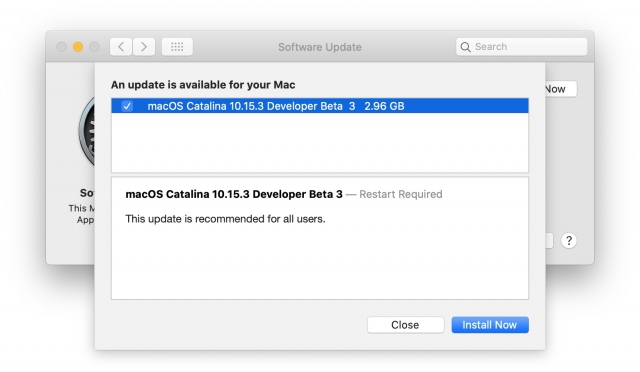 macOS Catalina 10.15.3 beta 3