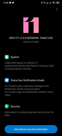 Mi Mix 3 Android 10 Global stable Update