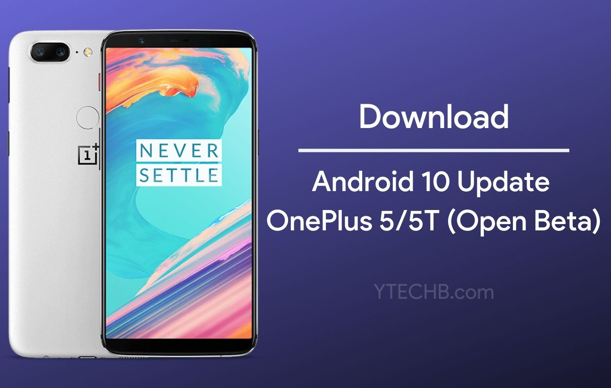 OnePlus 5T Android 10 Update