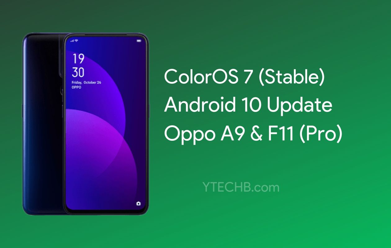 Oppo A9 Android 10 Update