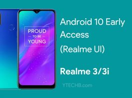 Realme 3 Android 10 update early access