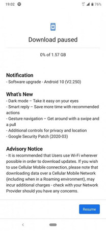 Nokia 7.2 Android 10 Update