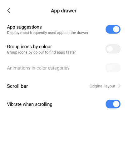 How to Enable App Drawer on MIUI 12