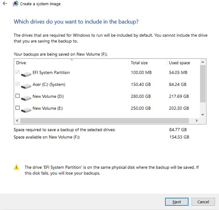 How to Take a Full Backup of Windows 10