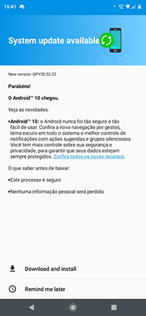 Moto G7 Play Android 10 Update