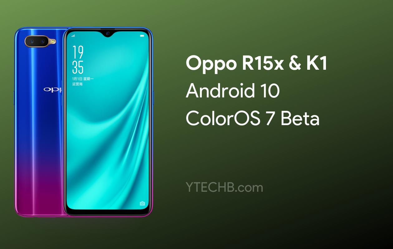 Oppo K1 ColorOS 7 Beta Update