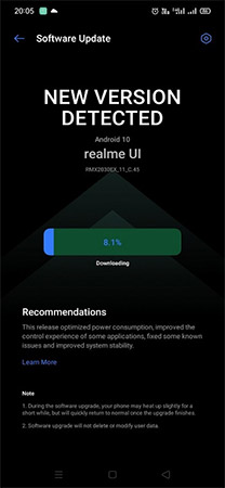 Realme 5i Android 10 Update