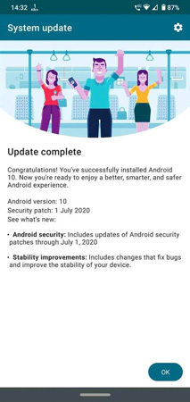 Moto G8 Plus Android 10 Update
