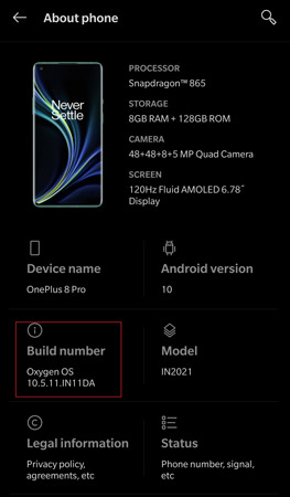 Enable Photochrom Mode on OnePlus 8 Pro