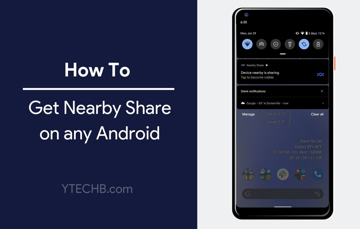 How to Get Nearby Share on any Android
