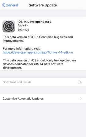 iOS 14 Beta 3 Update