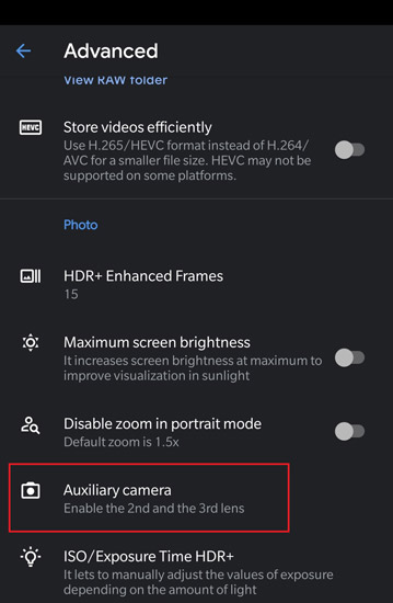Google Camera 7.3 with Auxiliary support