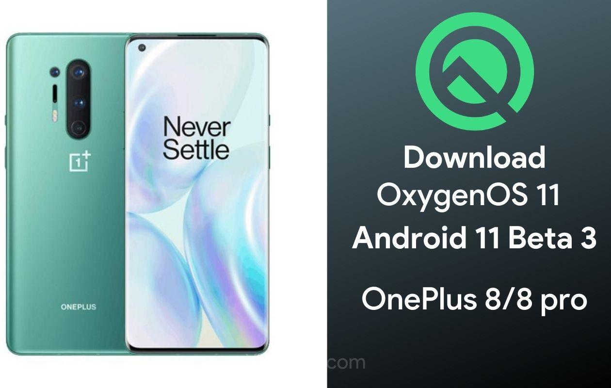 OnePlus 8 Pro OxygenOS 11 Beta 3