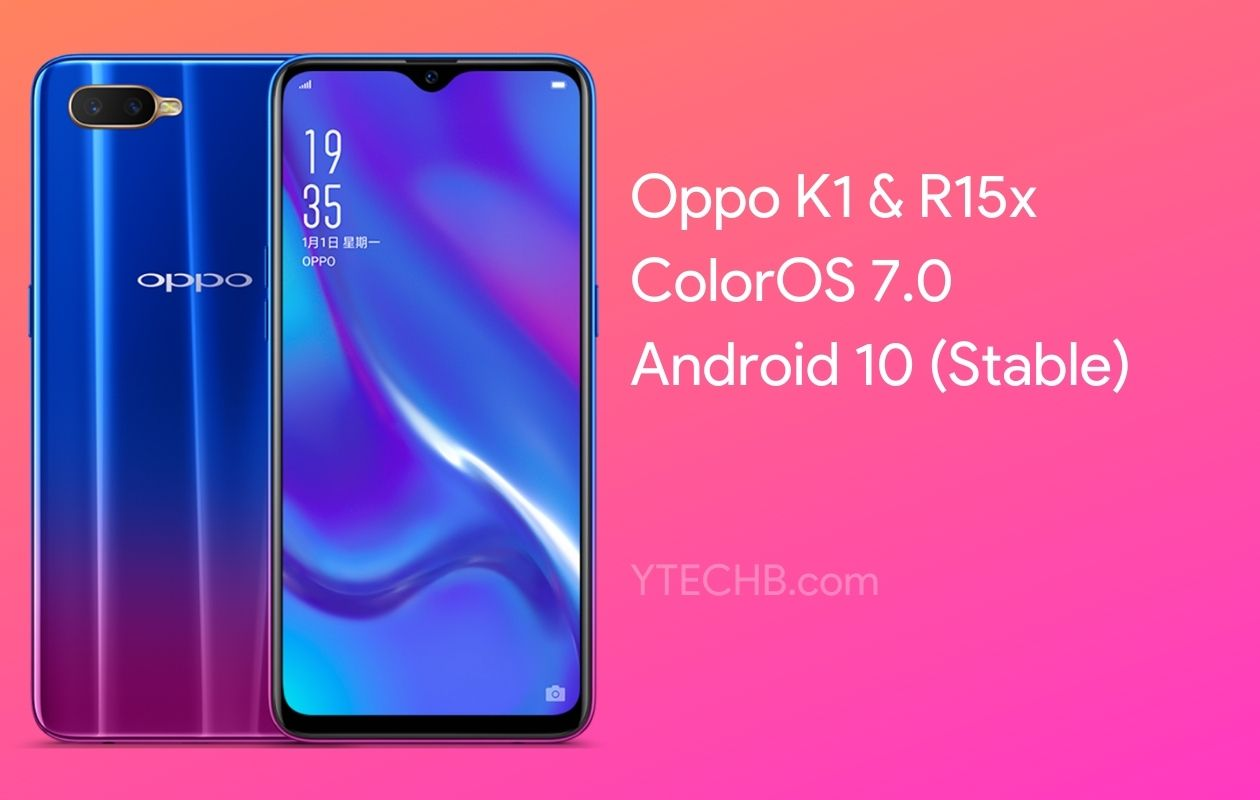 Oppo K1 Android 10 Stable Update