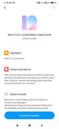 Redmi Note 8 Pro MIUI 12 Update