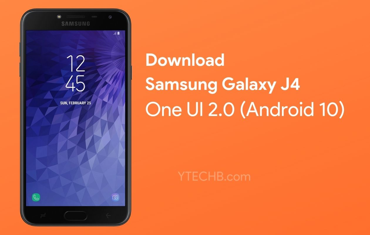 Samsung Galaxy J4 Android 10 Update