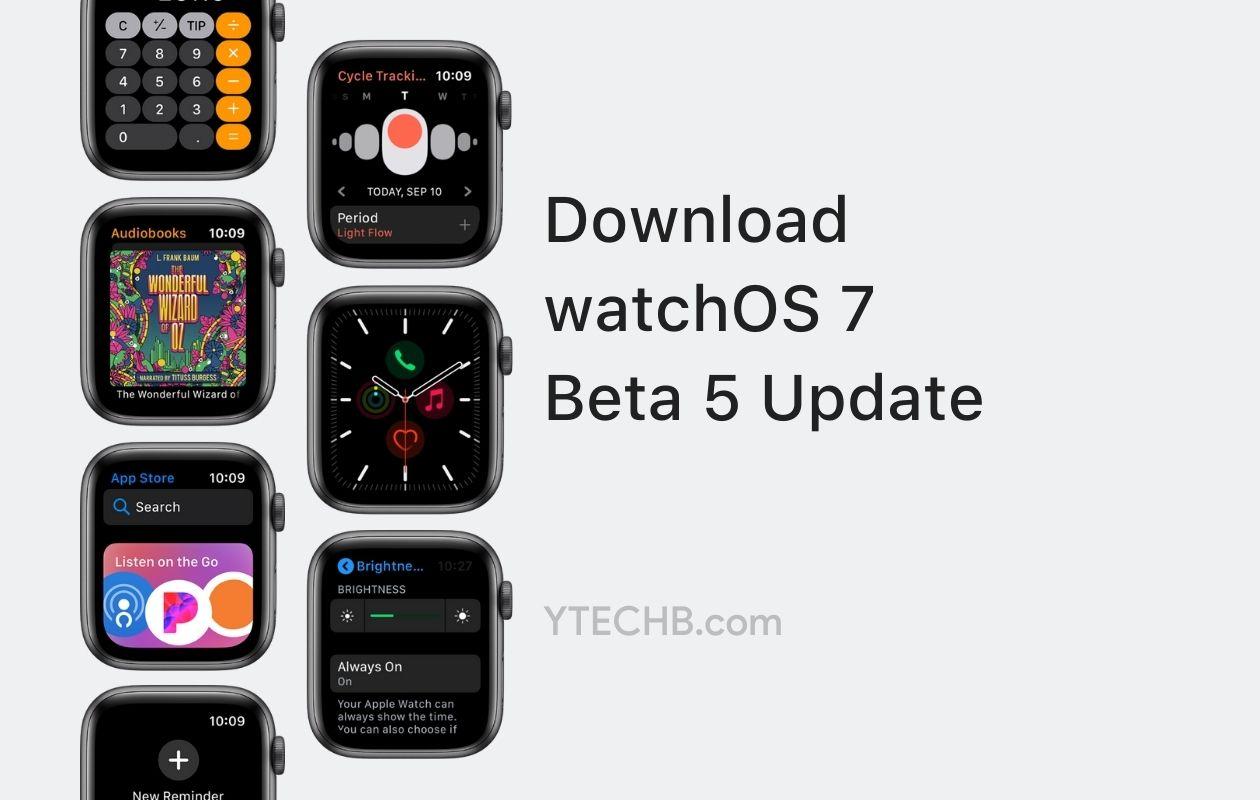 watchOS 7 Beta 5 Update