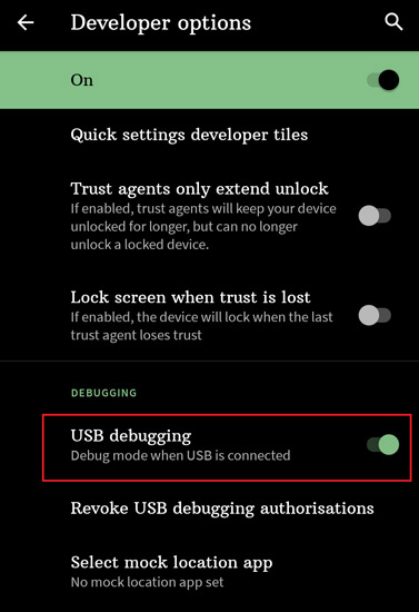 How to enable USB Debugging on Android 11