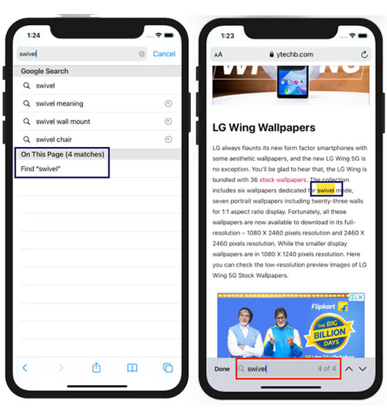 How to Find Text on Webpage in Safari on iPhone