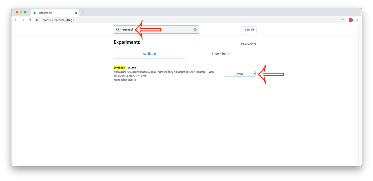 How to Enable Scrollable Tabs on Google Chrome
