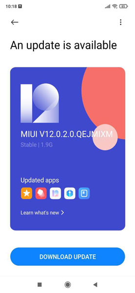 Poco F1 MIUI 12 Global Stable Update