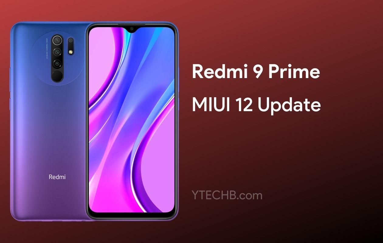 Redmi 9 Prime MIUI 12 update