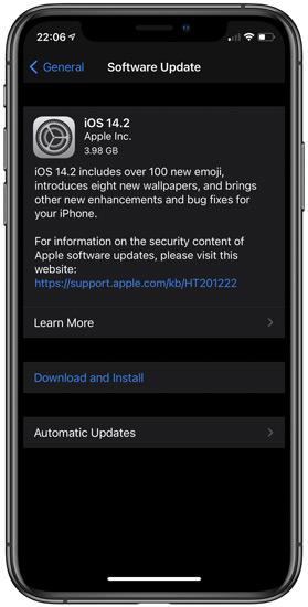 iOS 14.2 GM Update