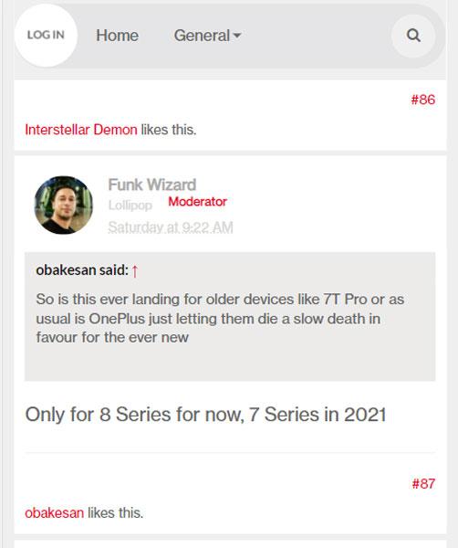 OnePlus 7 OxygenOS 11 Update