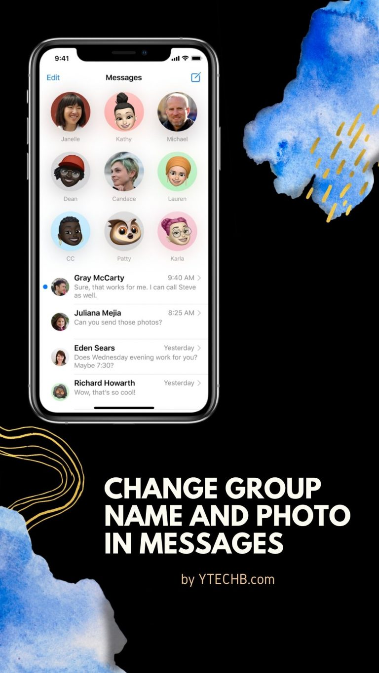 Change group name and photo in Messages on iPhone