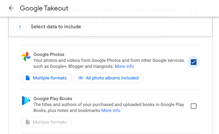 Download Google Photos Library