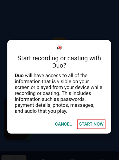 How to Share Screen on Google Duo