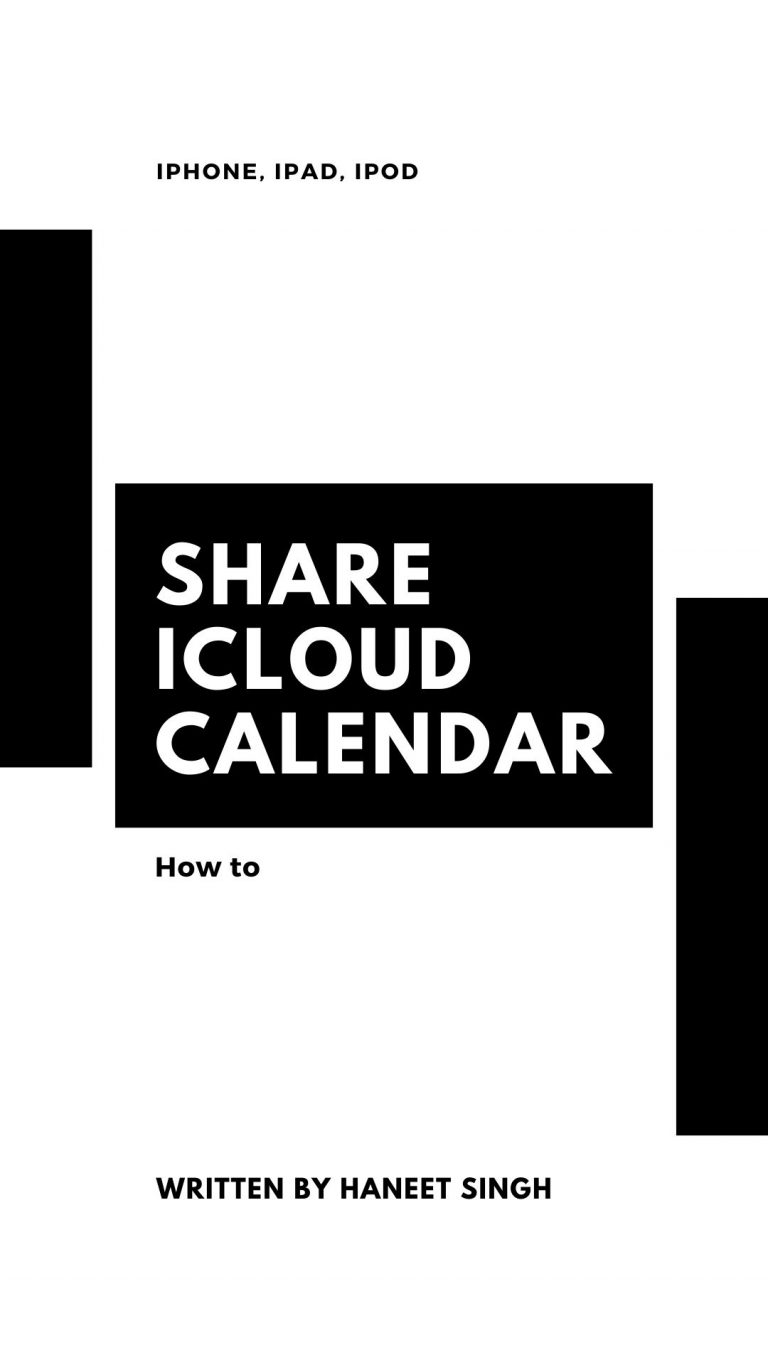 How to Share iCloud Calendar on iPhone or iPad