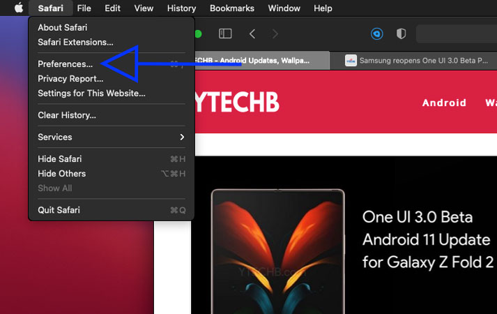 How to disable favicons in safari on mac