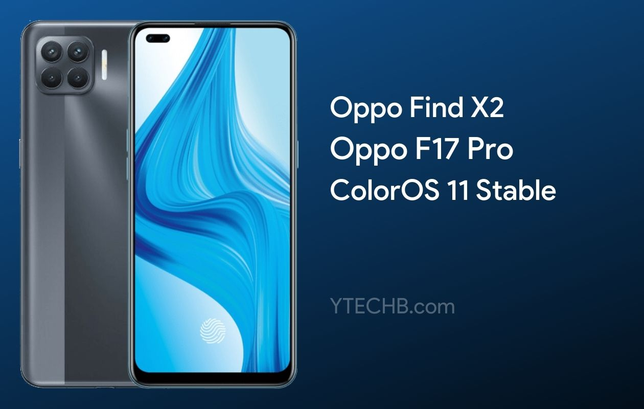 Oppo F17 Pro ColorOS 11 Stable Update