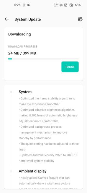 OnePlus 8 Pro OxygenOS 11.0.1.1 Update