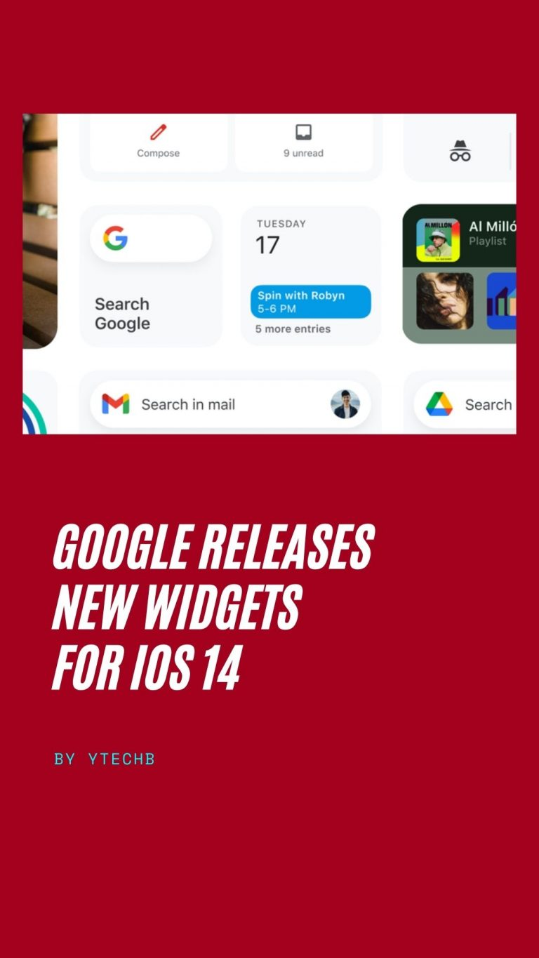 Google releases new widgets for iPhone