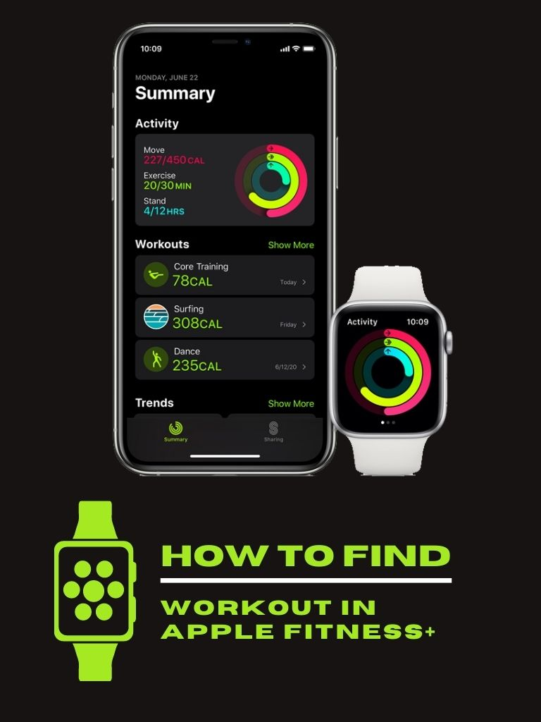 How to find a workout in Apple Fitness+
