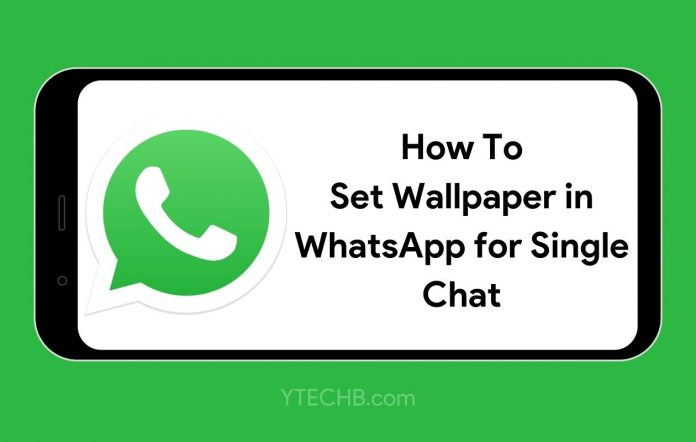 How to set wallpaper in whatsapp for each chat