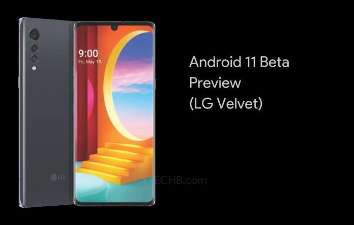 LG Velvet Android 11 Beta Preview