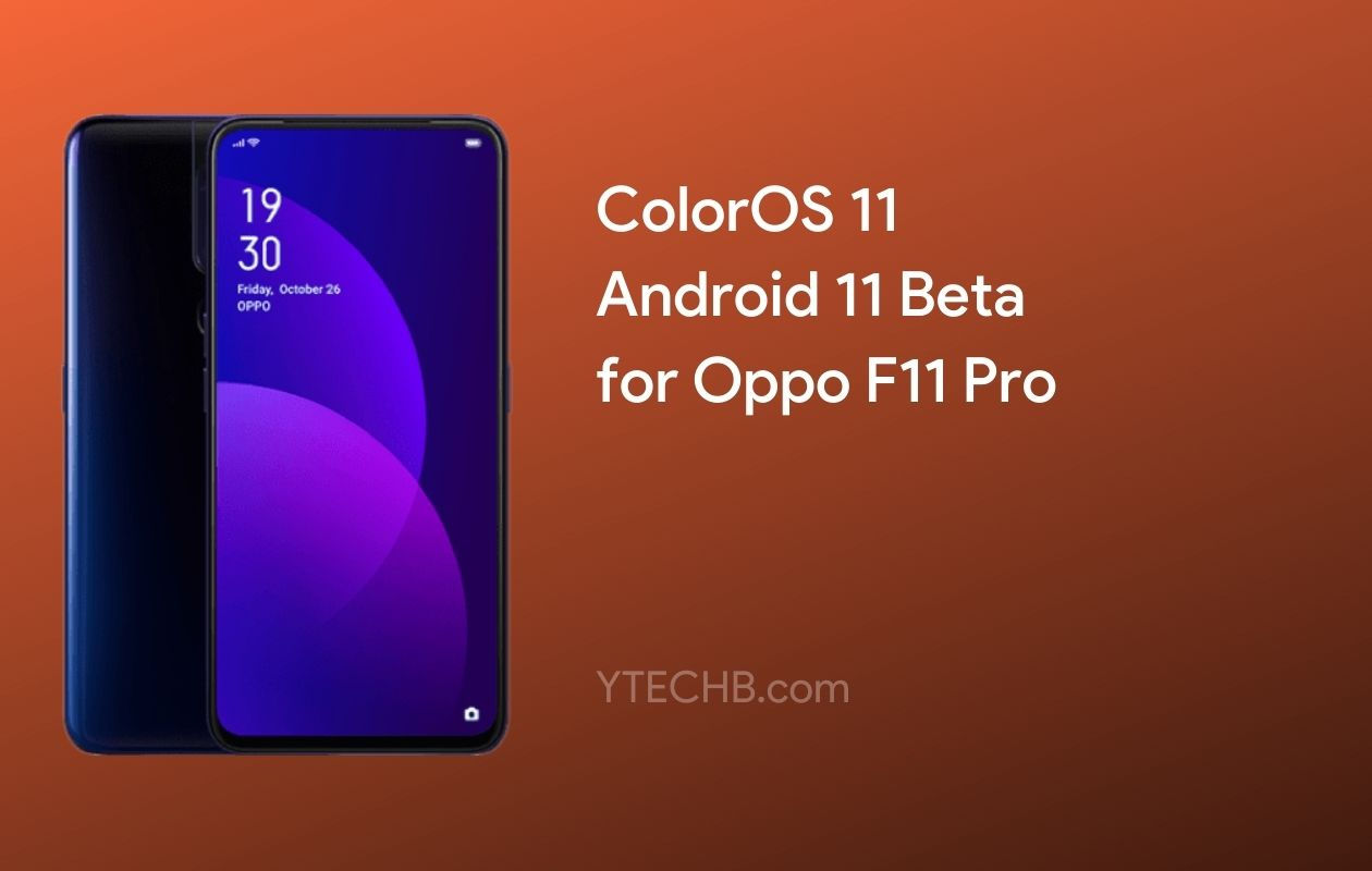 Oppo F11 Pro ColorOS 11 Beta Update