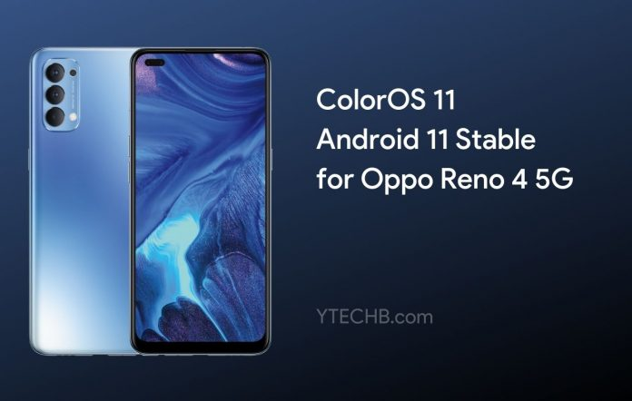 Oppo Reno 4 5G Android 11 Update