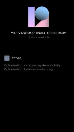 Poco M2 MIUI 12 Update