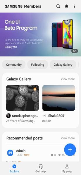 Samsung Galaxy M31 One UI 3.0 Beta Update