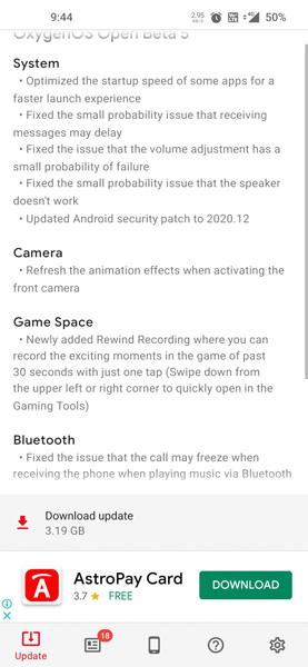 OnePlus 8 OxygenOS Open Beta 5 Update